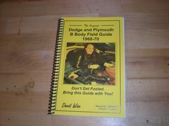 Original Dodge and Plymouth Field Guide 1968 - 70 (FGB-68-70)