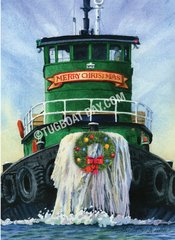 """Merry Christmas"" Tugboat card #7"