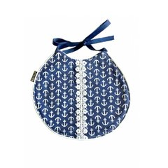~Anchors on Navy Nautical Baby Bib - Limited Edition