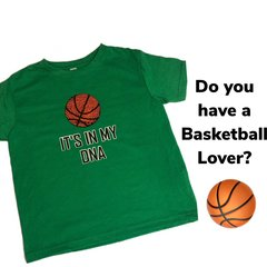 IT'S IN MY DNA Basketball Green Toddler Vintage Fine Jersey Tee
