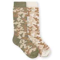 Cotton Rich Camo Knee High Socks