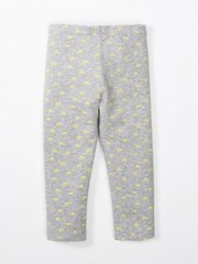 -Organic Heather Grey/Lemon Bicycle Print Capris