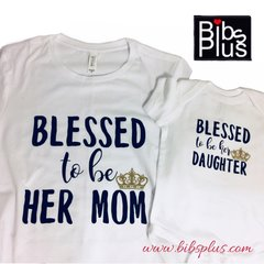 A Mommy + Daughter Tee Set - Bella + Canvas Jersey Tee