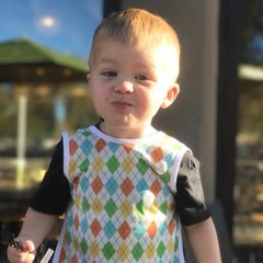 Handcrafted - Argyle Full Coverage Baby/Toddler Apron