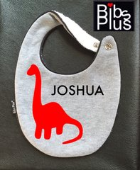 -Hand-Handcrafted Triple Layer, Customizable Dino Bib