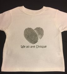 Children Tee - We All Are Unique Slightly Distressed Tee