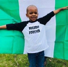 Three-Quarter Sleeve Raglan Tee - Nigeria Forever