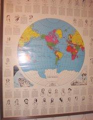 President Globe Map Framed B3765