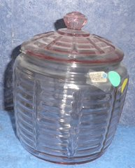 Candy Jar With Lid - Pink B563
