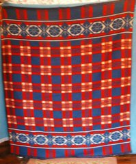 Blanket, Red and Blue Plaid B2655