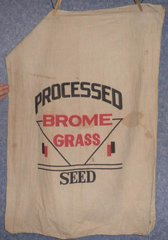 "Feed Sack ""Processed Brome Grass Seed"" B4865"