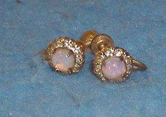 Earrings - Clip - Opal B3408