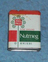 """Tin, """"Ann Page', Nutmeg B4209"""