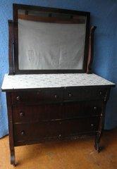 Empire Dresser with Mirror B5171