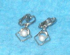Earrings - Heart with Pearl B3126