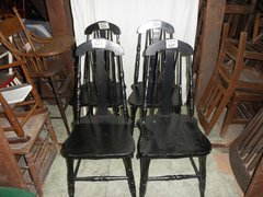 B4479  Vintage/Antique Set of (4) Solid chairs painted