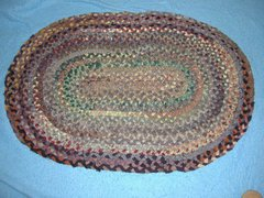 Antique Vintage Rug, Braided B3794