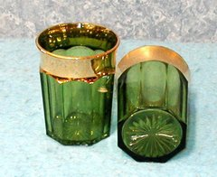 Glass Green with Gold trim B2847