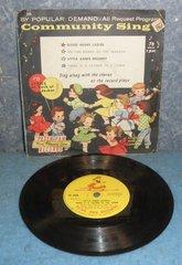 Record 78 RPM - Community Sing B4973