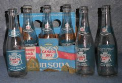 Canada Dry 6 Pack and Box B4593