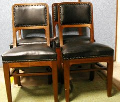 Black Leather Chairs B2579