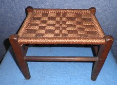 Stool - Foot Stool with Macrame Seat B4368