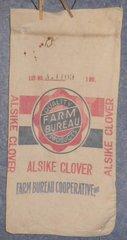 "Feed Sack ""Farm Bureau Alsike Clover"" B4863"