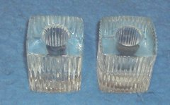 Candle Holder, Square Glass Set of 2 B3593