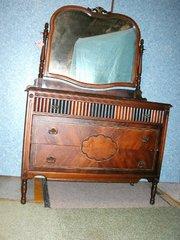Dresser With Mirror - Walnut B2967
