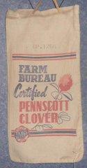 """Feed Sack """"Farm Bureau Pennscott Clover"""" B4862"""