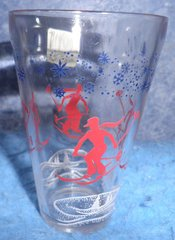 Glasses with Skier B1409