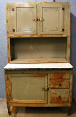 Antique Hoosier Cabinet Original Color B2526