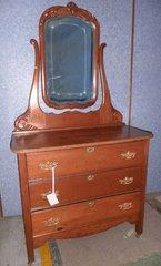 Dresser, Oak with Mirror B3059