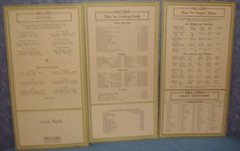 Charts for Sellers Cabinet (Set of 3) B3849