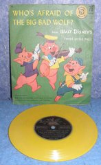Record 78 RPM - Who's Afraid of The Big Bad Wolf B4948