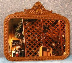 Mirror with Fancy Gold Frame B2093