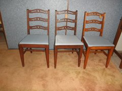 Chairs - Carved with Upholstered Seats B5420