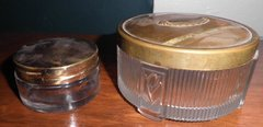 Glass Powder Jars - Set Of Two B168
