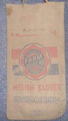 "Feed Sack ""Farm Bureau Medium Clover"" B4861"
