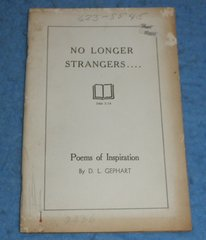 Book - No Longer Strangers - Poems of Inspiration  B5828