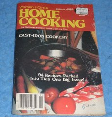 Cookbook - Women's Circle Home Cooking January 1983  B5860