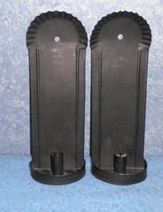 Candle Holders Pair- for Wall-Black B4382