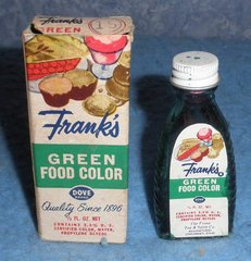 Bottle Frank's Green Food Color B5085