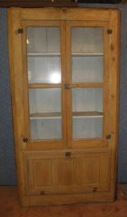 Antique Shallow Corner Cupboard B5684