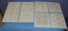 Charts for Sellers Cabinet (Set of 6) B3843