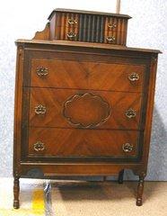 Dresser With Built In Vanity Top B2968