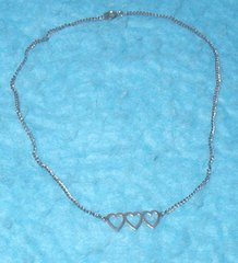 Necklace - 3 Hearts B3156
