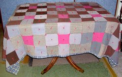 Quilt, Patch Bed Cover B3561