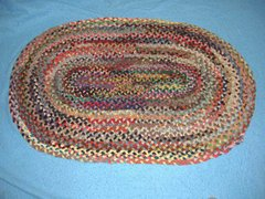 Vintage Antique Plated Rug Oval B3796