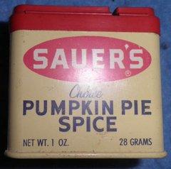 Spice Tin, Saurer's, Pumpkin Pie Spice B3891